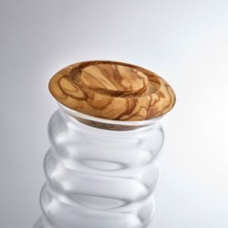 Krug Cadus White mit Olivenholz-Deckel, Living Designs